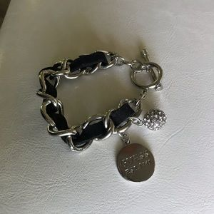 Guess Jewelry - Guess Silver Leather Bracelet